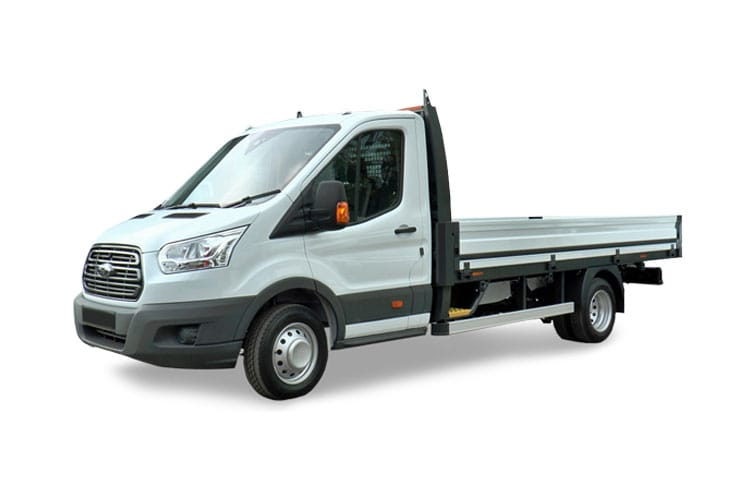 Ford Transit 350 L5 RWD 2.0 EcoBlue RWD 130PS Leader Premium Dropside Manual [Start Stop] front view